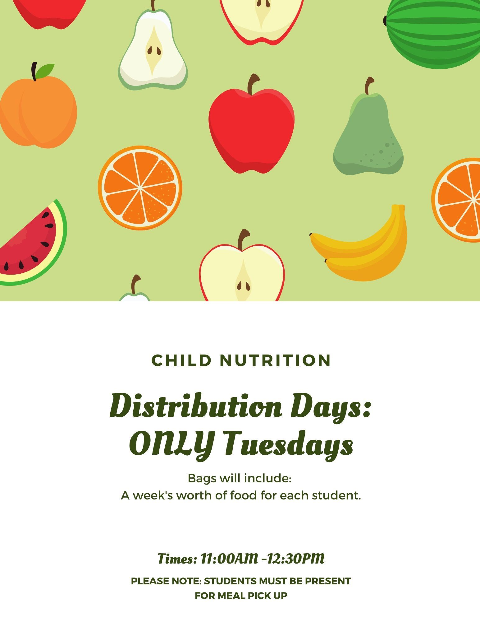 Child Nutrition: EFFECTIVE Monday, March 30, 2020