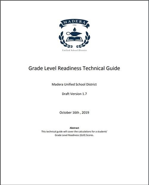 Grade Level Readiness Technical Guide