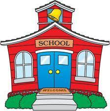 Vector image of a school house.