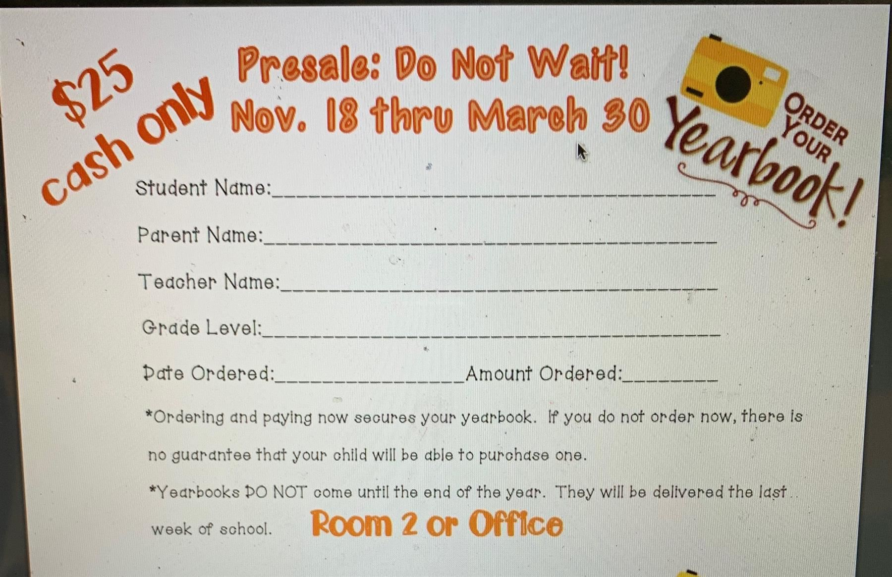 Yearbook Presale