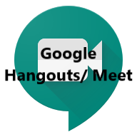Google Hangouts/Meet: Download and use the app or sign-in to your Google account and use it in the Chrome Browser.
