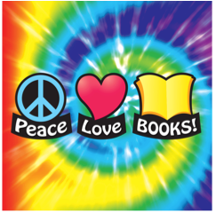 Image of Peace, Love, Books logo for Scholastic Book Fair