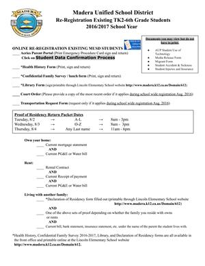 ReRegistration Info Sheet English